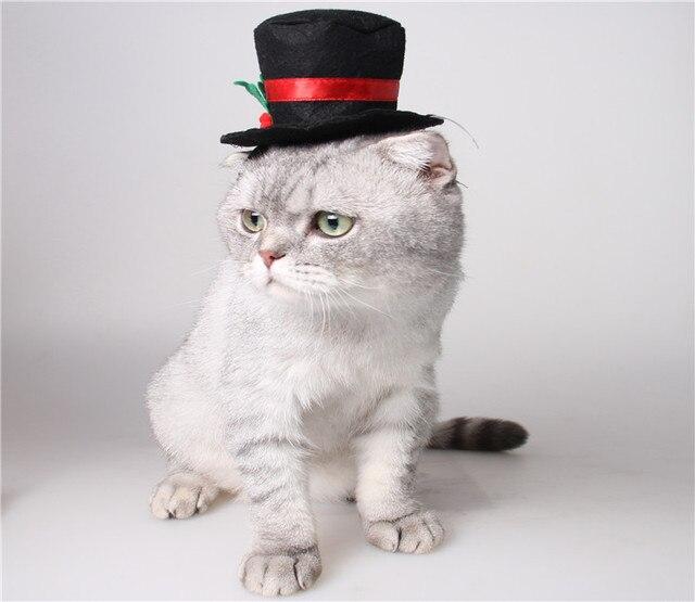 Linda fiesta de Navidad mascota pequeño perro sombreros gorra ...