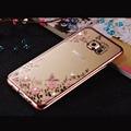 Rhinestones Soft TPU Plating Cases For Samsung Galaxy A3 A5 2016 Case A7 Samsung Galaxy J1 J5 S7 edge Cases Galaxy J3 S3 S5 Case