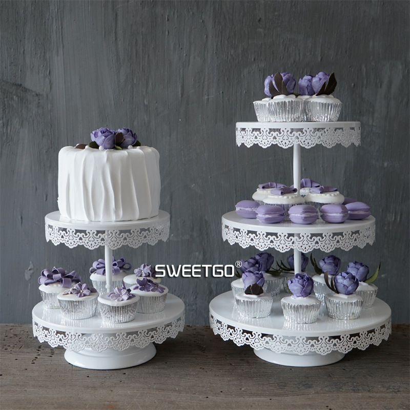 SWEETGO 2 tiers cupcake stand wedding Cake decoratingfor party event candy bar home decoration bakeware <font><b>tools</b></font> Kitchen& bar