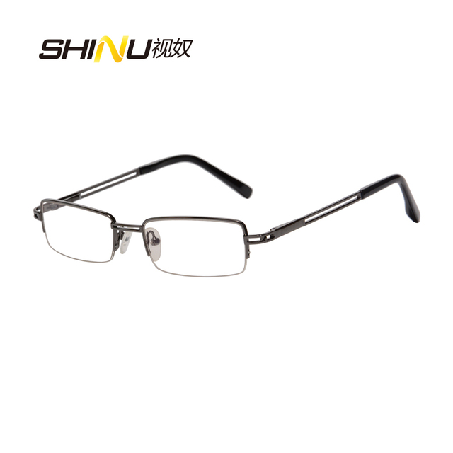 2d4626729 Venda quente Metade Aro de Metal Óptica Óculos De Armação de Moda Mulheres  Homens Prescrição Armações