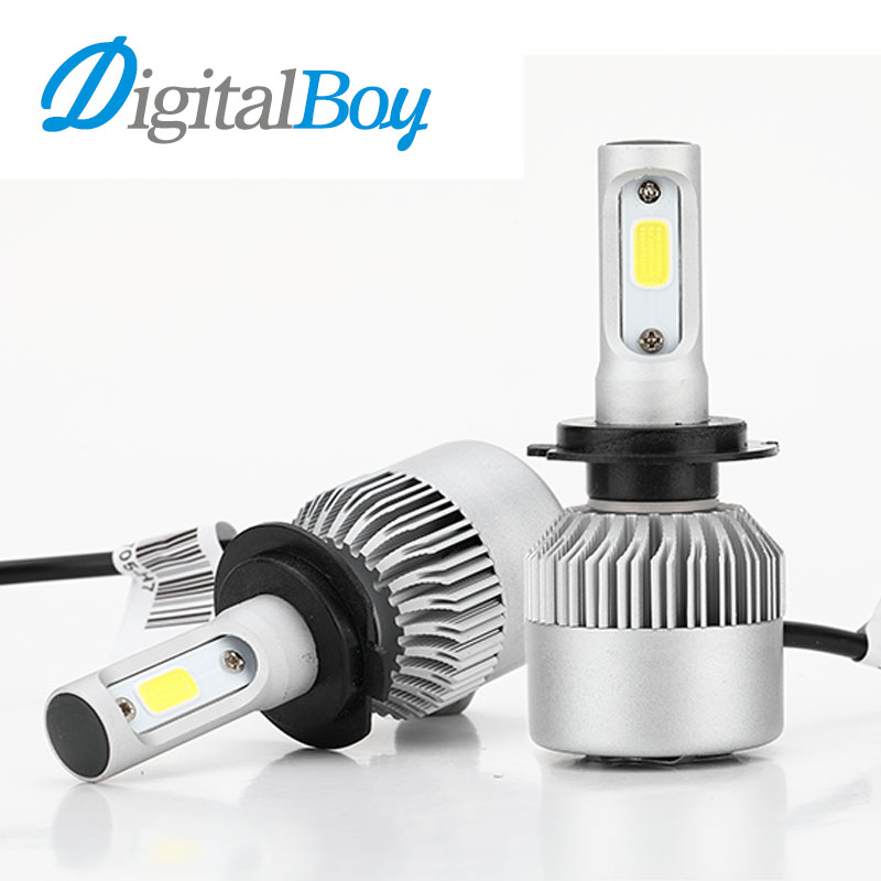 Super Bright Car LED Headlight H1 H3 H7 H11 H13 9005 9006 H4 9007 Hi/Low Beam COB LED Headlamp 60W 6000LM Car Front Light 6000k