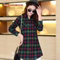 Hitz women's plaid shirt and long sections tide models wild women shirt Taobao Derivative net primary sources
