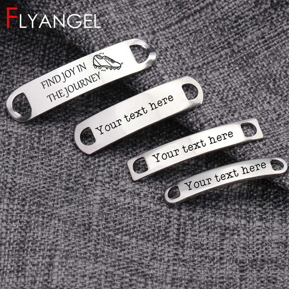2pcs Engraved Personalised trainer tags