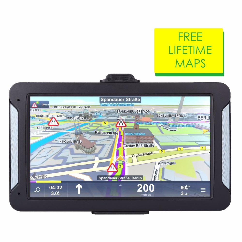 Oriana 7inch HD Car GPS Navigation FM 8G 256MB or 128MB latest Europe Map Resistive or Capacitive Truck gps navigators(China)