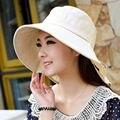 Sunbonnet sol chapéu de sol chapéu feminino verão grande chapéu de aba dobrável pescoço mulheres praia chapéu de sol sombra