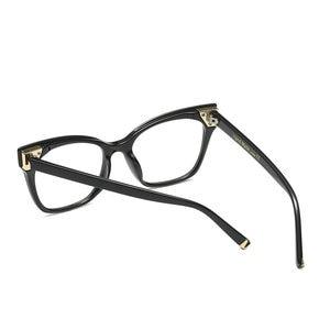 Image 5 - حار النساء نظارات القراءة الرجعية صندوق كبير مربع القط الإناث أزياء النظارات البصرية الإطار عالية الجودة نظارات القراءة NX