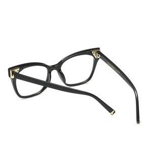 Image 5 - Hot women reading glasses retro big box square cat female fashion optical glasses frame high quality reading glasses NX