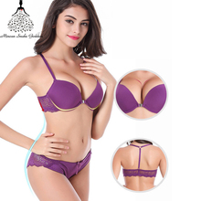 Sexy Lace Push Up Bra Set Underwear Women Front Closure Intimates And Panty For