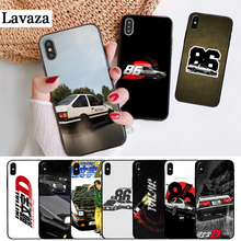 Lavaza AE86 Initial D Silicone Case for iPhone 5 5S 6 6S Plus 7 8 11 Pro X XS Max XR