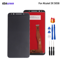 For Alcatel 5058i LCD Display Touch Screen Digitizer Assembly For Alcatel 3X 5058 5058A 5058Y Screen LCD Display Phone Parts for alcatel one touch go play ot7048 lcd screen display touch screen digitizer assembly free shipping