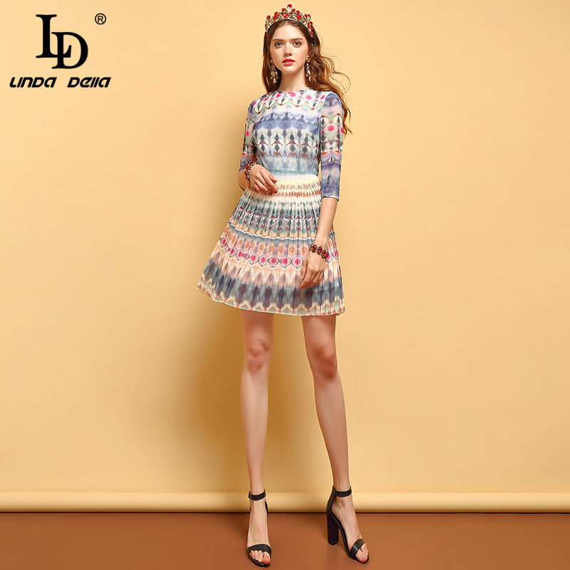 LD LINDA DELLA Elegant Ladies Vacation Mini Dress 2019531