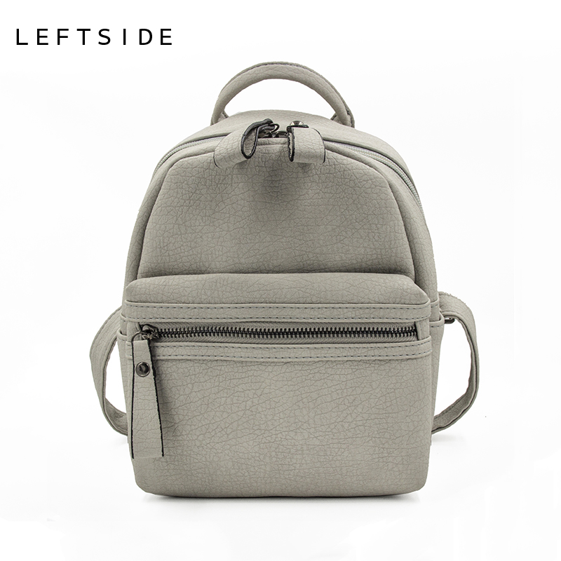 LEFTSIDE 2017 Women s PU classic Leather Backpack mini back pack famous backpacks for teenage girls