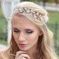 Gota de agua rhinestone de la venda wedding bride crystal Banda Para el Cabello hermoso nupcial celada accesorios para el cabello Joyería de la frente