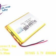 Литровая энергетическая батарея 357095 3,7 в 4000 мАч(полимерная литий-ионная батарея) литий-ионная батарея для планшетных ПК 7 дюймов MP3 MP4 357096