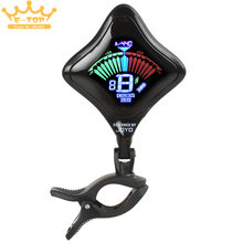 JT-02 Screen Mini Guitar Tuner Clip Guitar Parts and Accessories with USB Chargeable Lithium Battery
