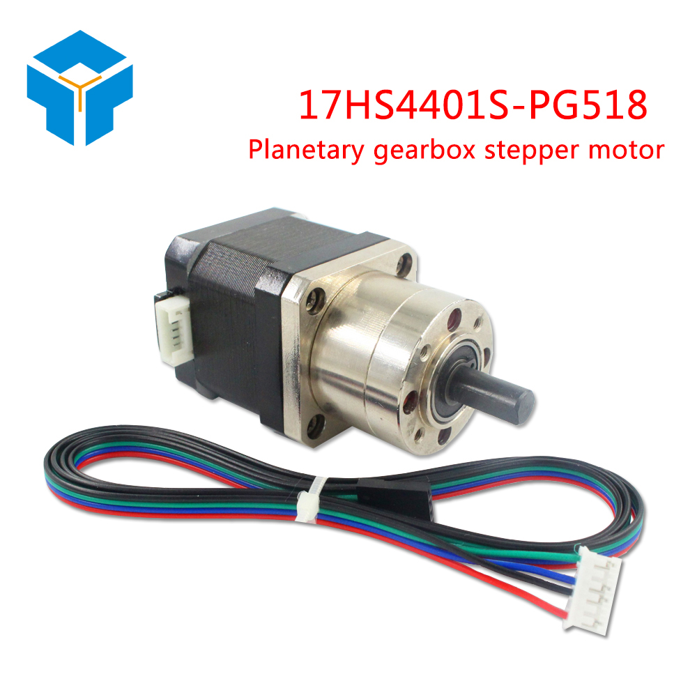 3D Printer 4-lead Nema17 Stepper Motor 42 motor Extruder Gear Stepper Motor Ratio 5:1 Planetary Gearbox Nema 17 Step Motor OS