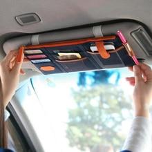 Солнцезащитный козырек для автомобиля, сумка для хранения в автомобиле, сумка для хранения, коробка, многофункциональные инструменты, органайзер, сумка для солнцезащитных очков, билетов, топливных карт, мобильного телефона
