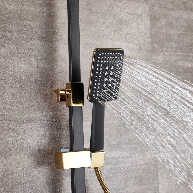 Image 3 - Bathroom Luxury black Golden shower set with bidet shower with shelf gold shower set bathroom Shower faucet Bathtub Faucet SetsShower Faucets   -