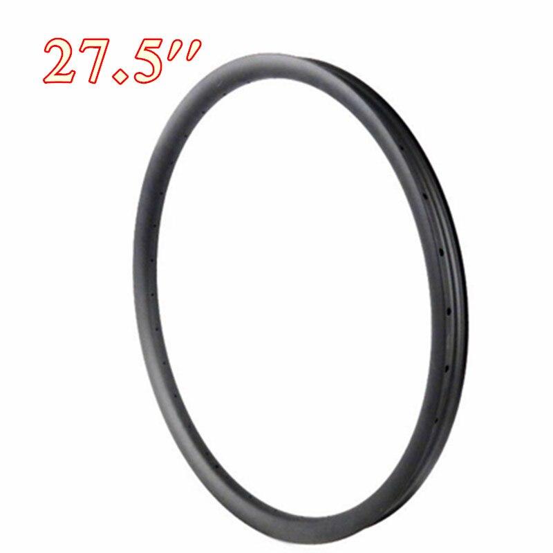 27.5ER VTT roues jante carbone vélo Tubeless 3 k ud brillant mat surface 18 20 24 28 32 36 trous NGT usine OEM 27.5''