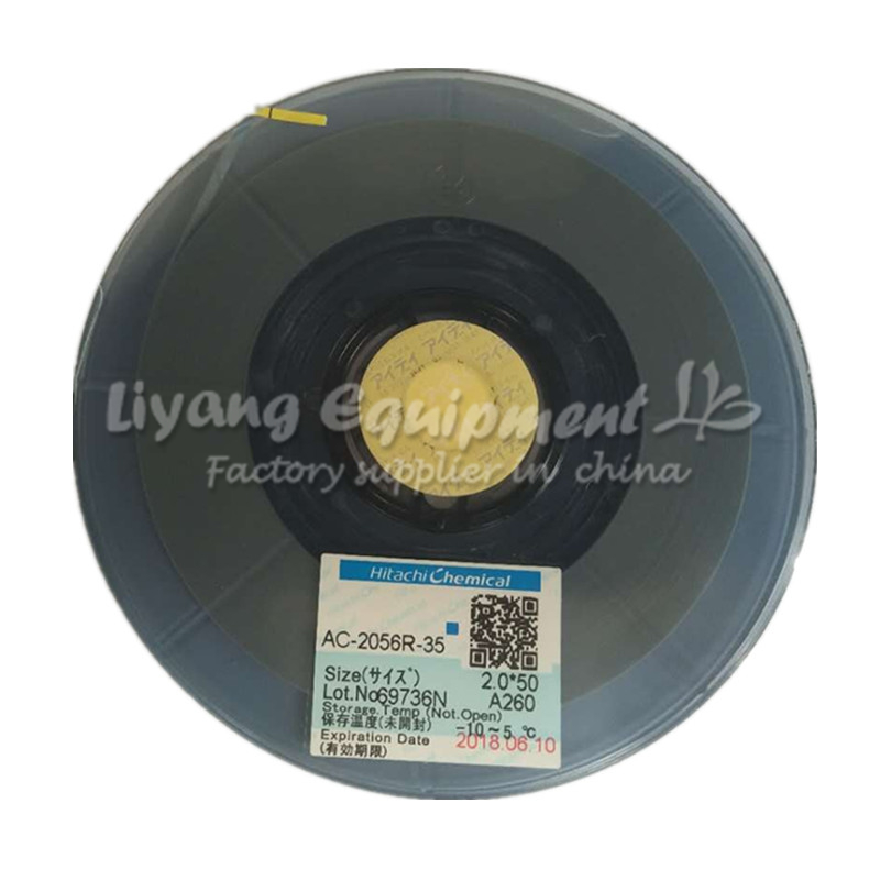 Original ACF AC-2056R-35 PCB Repair TAPE 2MM*50M Latest Date For Pulse Hot Press Flex Cable Machine