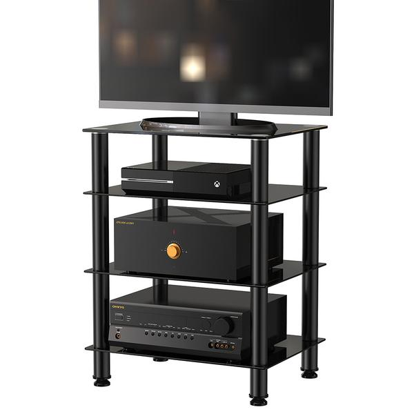 Ordinaire Fitueyes 4 Tier TV Media Stand For Audio Cabinet Apple Tv Xbox One PS4 Audio  Components Rack AV Tower Media Stand AS406001GB  In TV Stands From  Furniture On ...