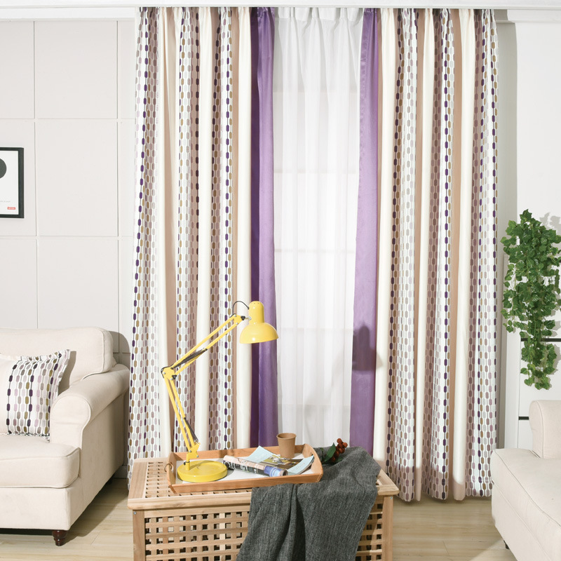 Jacquard Purple Curtains For Living Room Solid Blue Curtain For Bedroom  Custom Made Home Decor Window Blackout Fabric Drapes New In Curtains From  Home ...