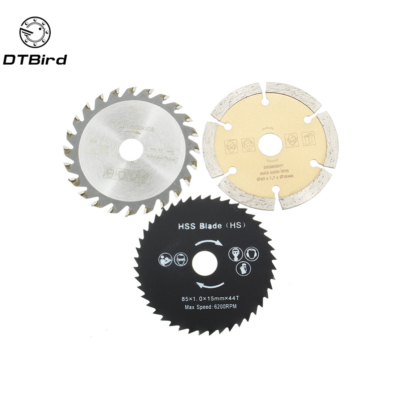 3pcs Out Diameter 54.8 Mm Mini Circular Saw Blade Wood Cutting Electric Tools Accessories