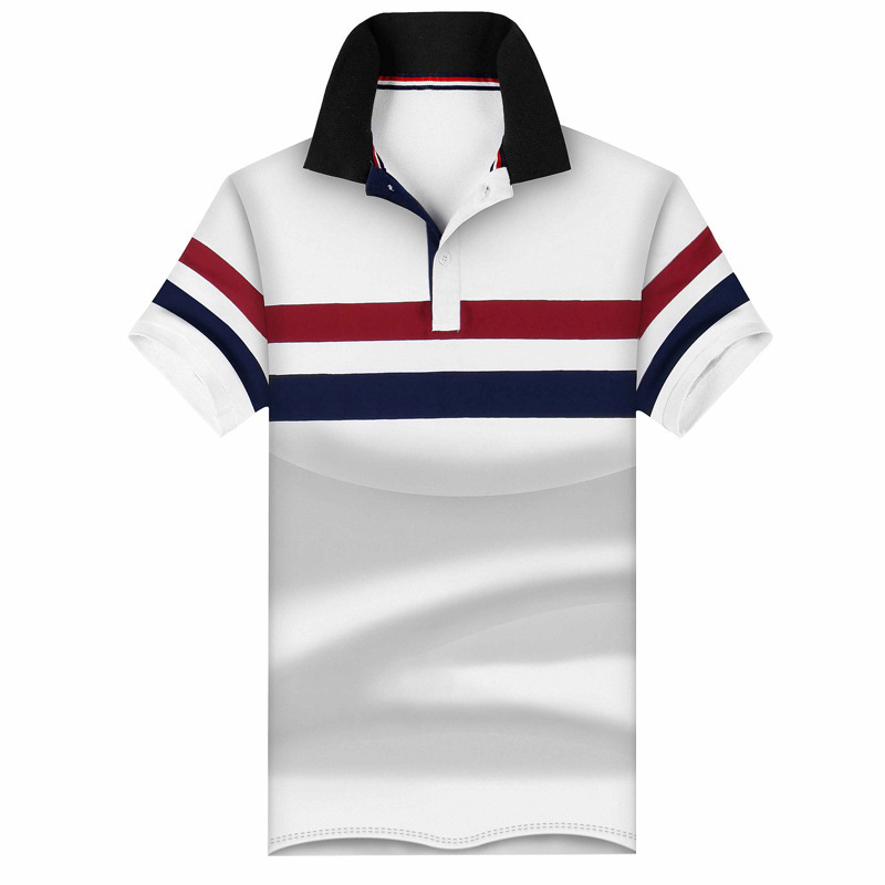 95% Cotton Men   Polo   Shirt Casual Male Summer Fashion New Stitching Short SLeeved Clothing