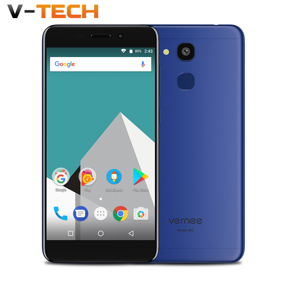 Vernee M5 4G 5.2&#8243; <font><b>Smartphone</b></font> 4GB RAM 64GB ROM MTK6750 Octa Core Android 7.0 Cellphone <font><b>13MP</b></font> 3300mAh HD Fingerprint Mobile Phone