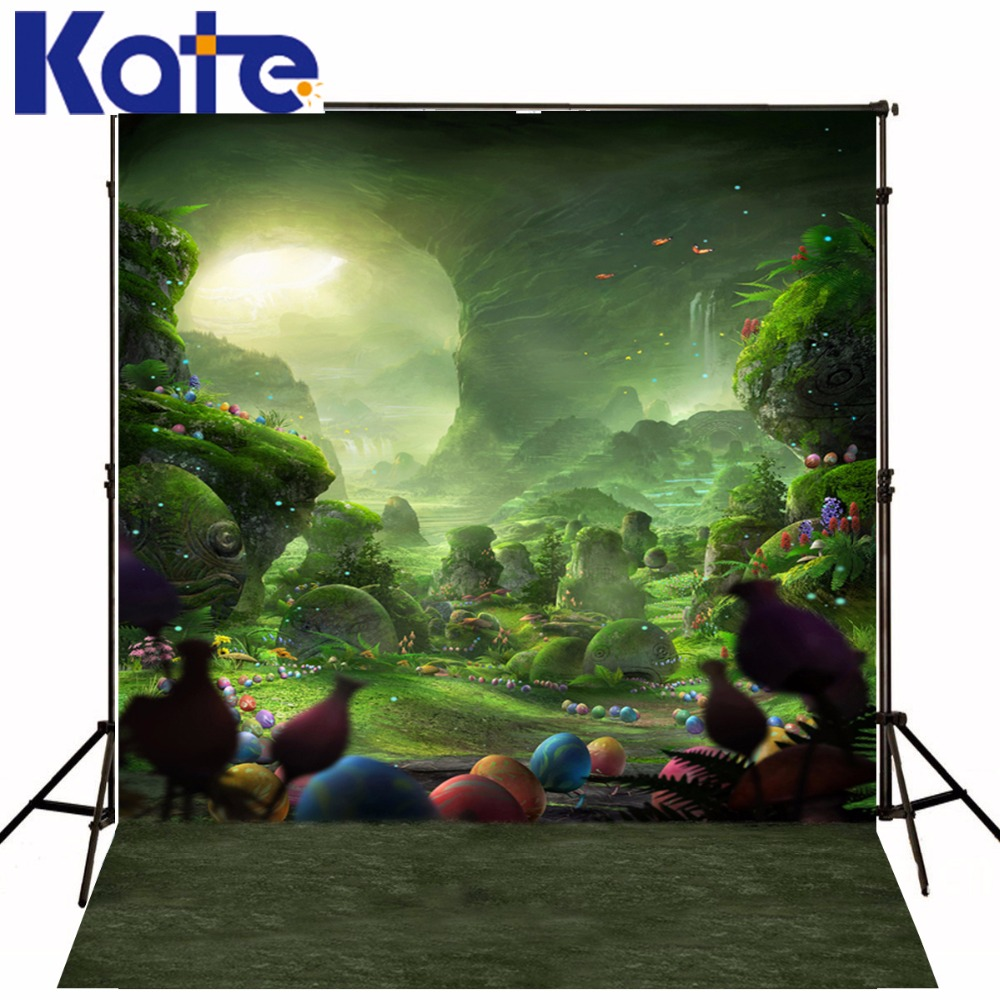 Kate Backdrop Photo Natural Scenery Photography Backdrop Mountain Colorful Eggs Forest Photography Studio Backgrounds
