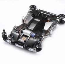 Модель автомобиля GIGANT черная прозрачная, с обновленными запасными частями для Tamiya Mini 4WD, 1 комплект