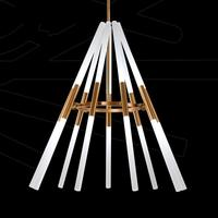 Transformable led pendant lamps Pipe Erected 110 240v Led laser pendent lights Modern Dining Room Lamparas Deformable Lampe