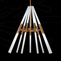 Transformable led pendant lamps Pipe Erected 110 240v Led laser pendent lights Modern Dining Room Lamparas Deformable Lampe