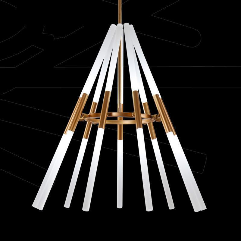 Transformable led pendant lamps Pipe Erected 110-240v Led laser pendent lights Modern Di ...