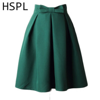 Skirt Womens 2017 New Design Summer Plus Size Pleated Skirts Solid Color Female High Waist
