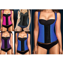 FEDEX 50pcs/lot NEW wide vest Waist Workout Cincher Underbust Steel Boned Body Shaper Shapewear latex rubber Corset S-3XL Women