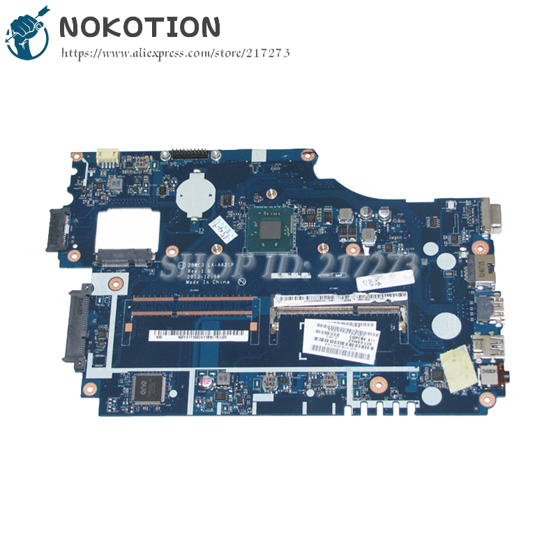 NOKOTION Z5WE3 LA-A621P NBY4711002 PC Main Board For Acer Aspire E1-510 E1-510-2500 Laptop Motherboard Logic Board DDR3 new original ls 7912p for e1 571 e1 531 e1 521 e1 571g e1 531g e1 521g switch power button board with cable test good