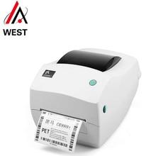 Originele en nieuwe zebra GK888T bar code printer express mail logistiek magazijn adres afdrukken gratis verzending