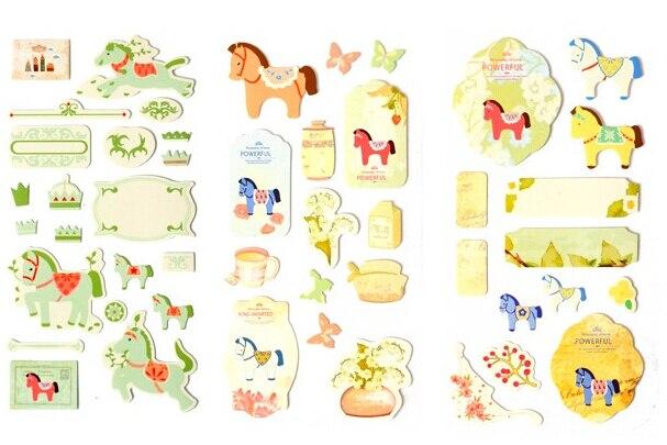 Vintage Horse Sticker Scrapbooking Planner Sticker