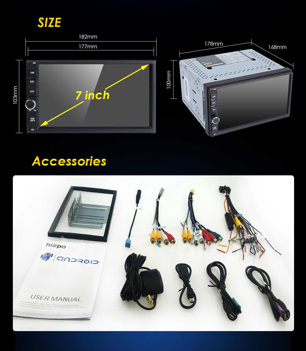 7 インチのアンドロイド 8.0 4 グラム 32GROM オクタコア PX5 車なし DVD ラジオ 2din ユニバーサル GPS ナビゲーションステレオオーディオ HD1024 * 600 WIFI Bluetooth