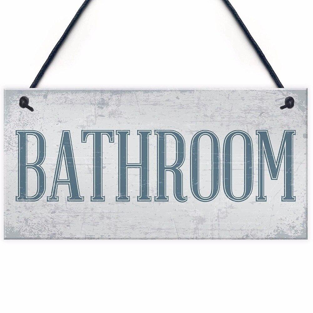 Meijiafei Shabby Chic Bathroom Sign