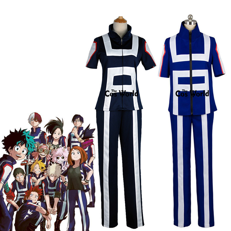 Boku No Hero Academia My Hero Academia All Roles Gym Suit High School Uniform Sports Wear Outfit Anime Cosplay Costumes