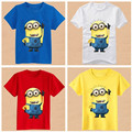 Small child summer short-sleeve t-shirt male female child casual child minions clothes baby boys clothes children summer clothes