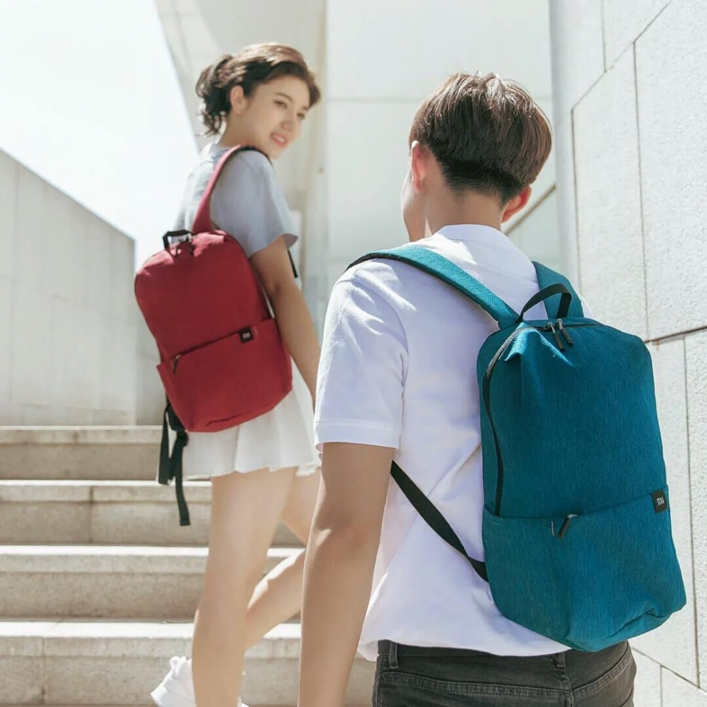 Image 5 - Xiaomi Colorful Mini Backpack Bag 10L Anti Water Bag Mi 8 Color Lovers Couple Backpack For Student Younth-in Laptop Bags & Cases from Computer & Office