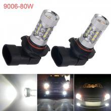 1 Pair HB4 9006 LED Bulbs High Power 3535 21-SMD Daytime Running Fog Light 12V 24V White 6000K