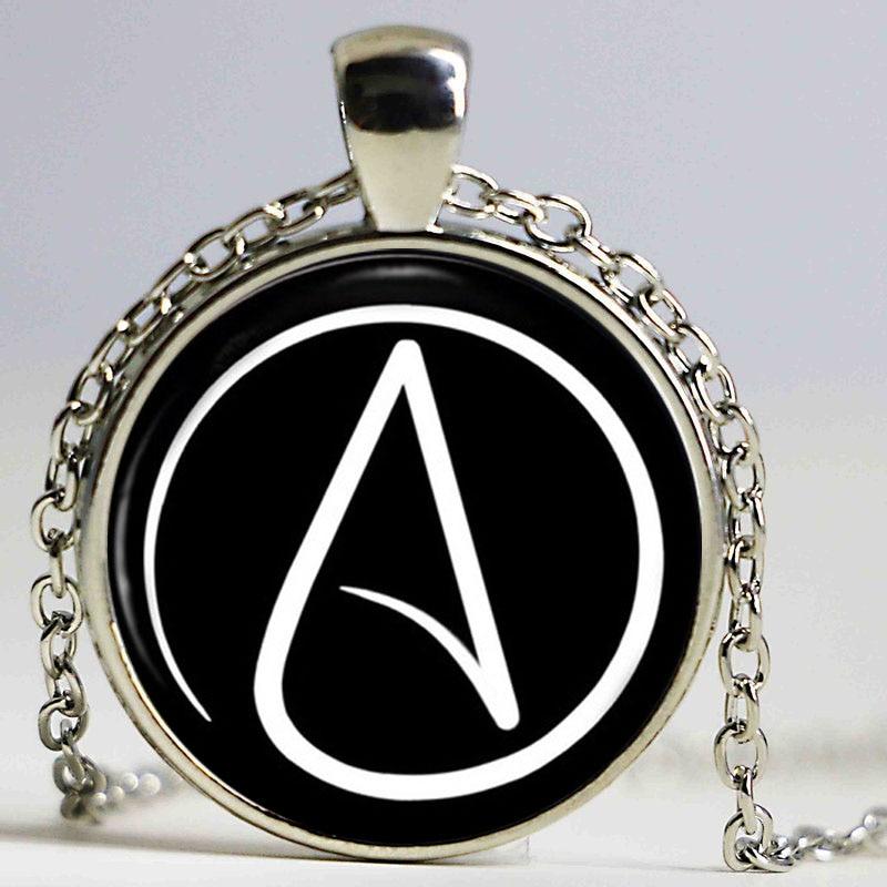 Atheist Symbol Necklace Atom Pendant Atheist Jewelry No Religion