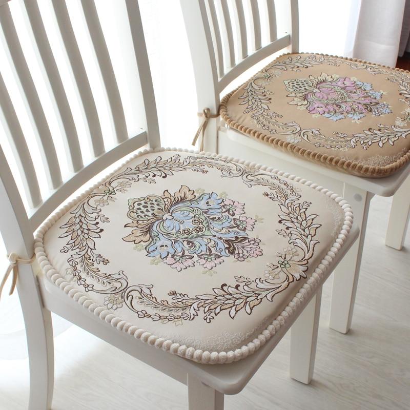 Cojín de silla de estilo europeo de alta calidad cojines de silla de  comedor extraíble lavable ...
