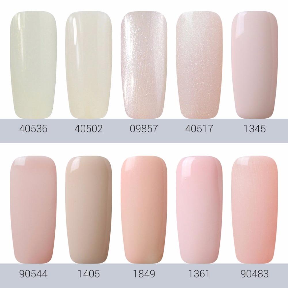 FairyGlo 7ml Light Color UV Nail Gel Polish Semi Permanent Gel Nail ...