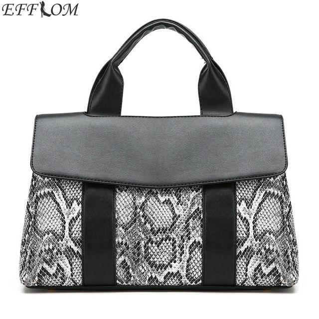 Bags For Women 2018 Luxury Handbags Designer Snakeskin Pu Leather Handbag Functional Female Hobo