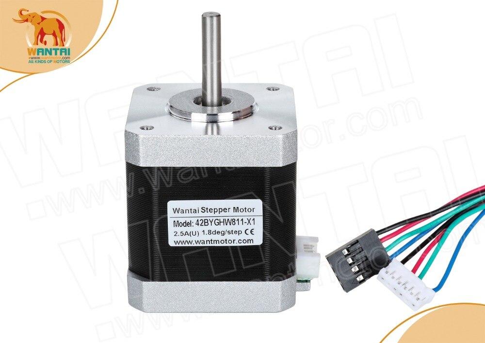 DE l'ue gratuit! Wantai 1PC Nema 17 moteur pas à pas 42BYGHW811-X1 avec arbre sinfgle, connecteur 4800g. cm 48mm 2.5A